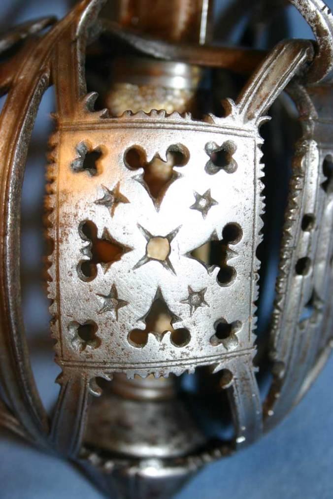 John Allan basket hilt-Symbolism